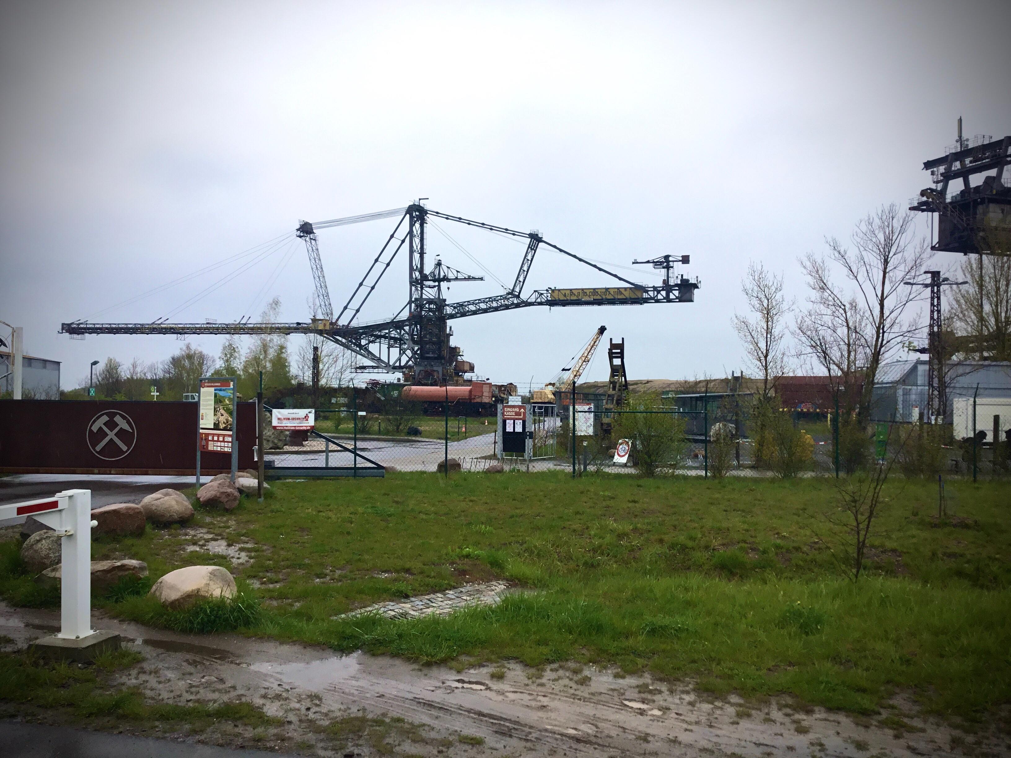 Industriedenkmal am ehemaligen Tagebau