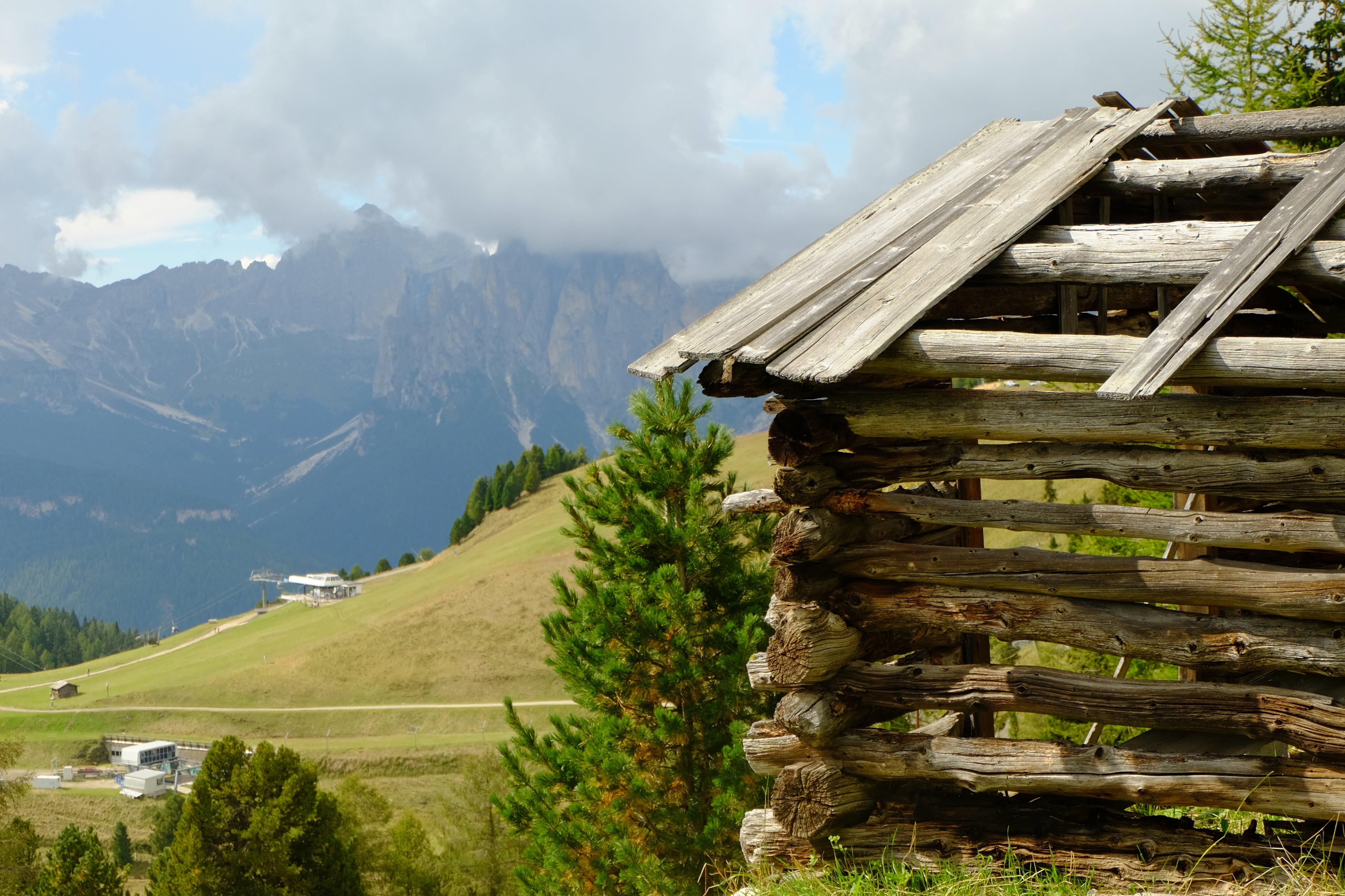 Verlassene Bergscheune