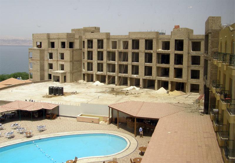 Der Neubau am Dead Sea Spa Hotel