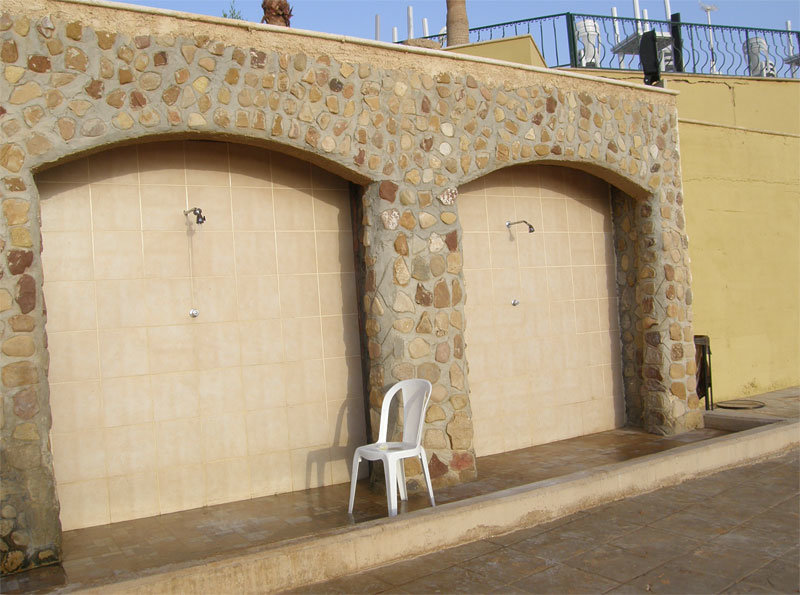 Duschen am Dead Sea Spa Hotel