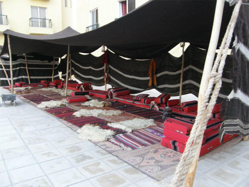 Beduinenzelt am Dead Sea Spa Hotel
