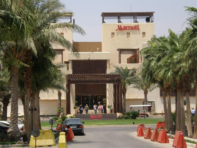 Ankunft im Hotel Marriott