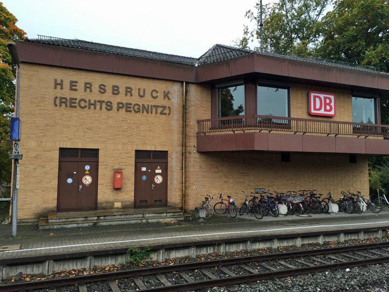 Der Bahnhof von Hersbruck